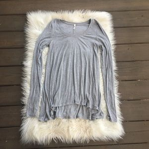 Free People Gray Tunic Top